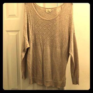 Sweater | Pins & Needle | Brown | Size Medium
